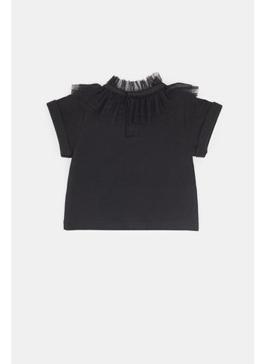 BG Baby Kız Bebek Siyah T-Shirt 20Pfwbg2508 Siyah
